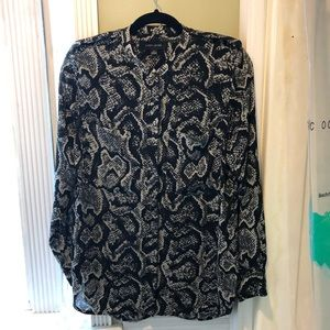 Larry Levine snakeskin blouse size Medium.